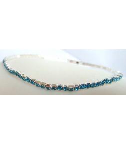 Bracelet strass élastique bleu