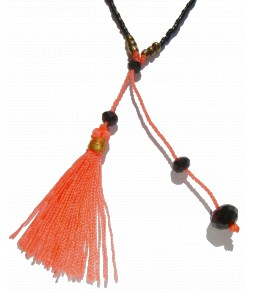 La finesse des perles du Japon, orange