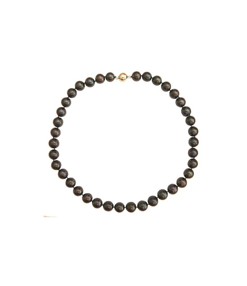 acheter pas cher collier v ritables perles de culture noires. Black Bedroom Furniture Sets. Home Design Ideas