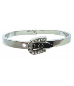Bracelet ceinture argenté et strass