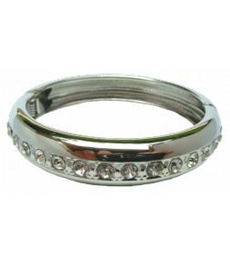 Bracelet jonc articulé, strass
