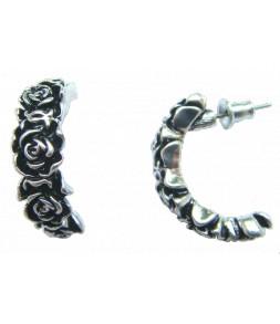 Demi anneaux en petites roses