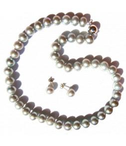 Parure véritables perles de culture d'eau douce