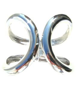Large )( bracelet argenté