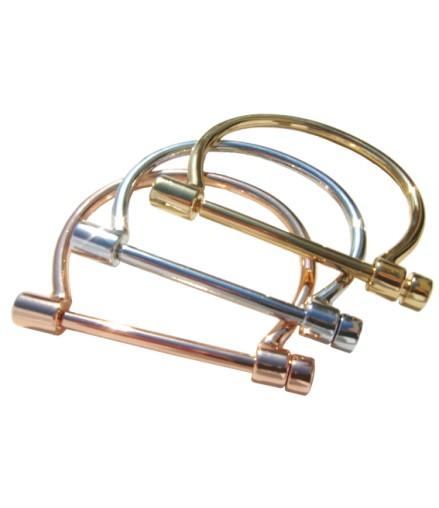Bracelet design fermoir original argenté