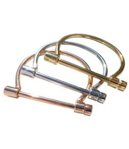 Bracelet 2 rangs strass élastique gris