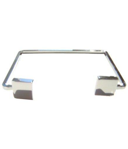 Bracelet ouvert géométrique argenté