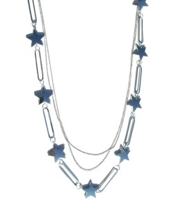 Sautoir étoiles anthracites