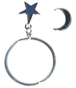 Anneaux étoile argentée