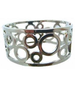Large bracelet ajouré très belle finition, articulé