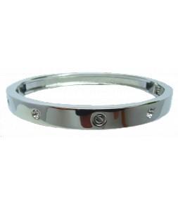 Bracelet articulé argenté et strass