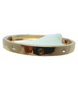 Bracelet articulé doré et strass
