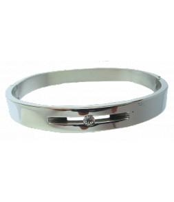 Bracelet inox articulé un strass, belle finition