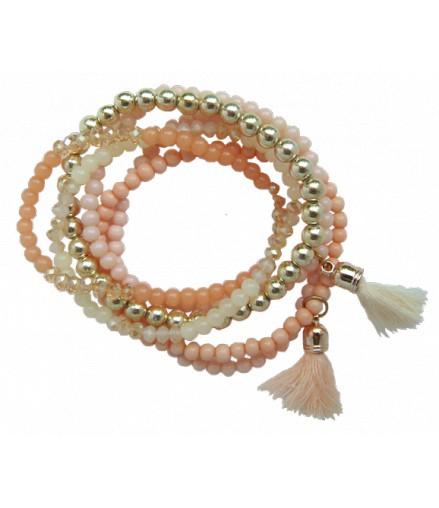 6 bracelets élastiques assortis