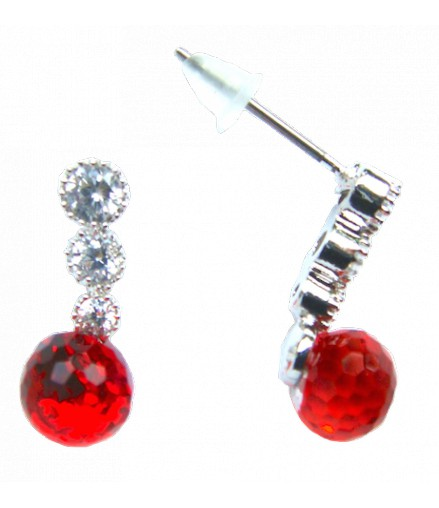 Strass touche rouge en finesse