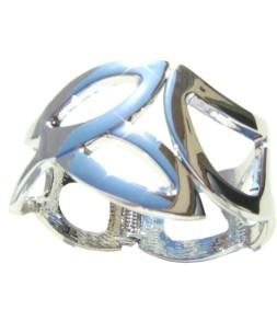 Bracelet strass facettes, fermoir clip