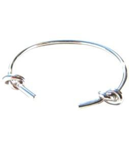 Bracelet ouvert noeud argenté