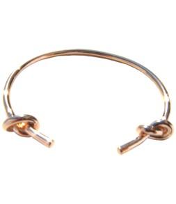 Bracelet ouvert noeud doré